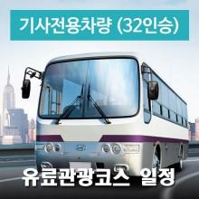 32인승차량 + 전용기사 (유료관광지 일정)